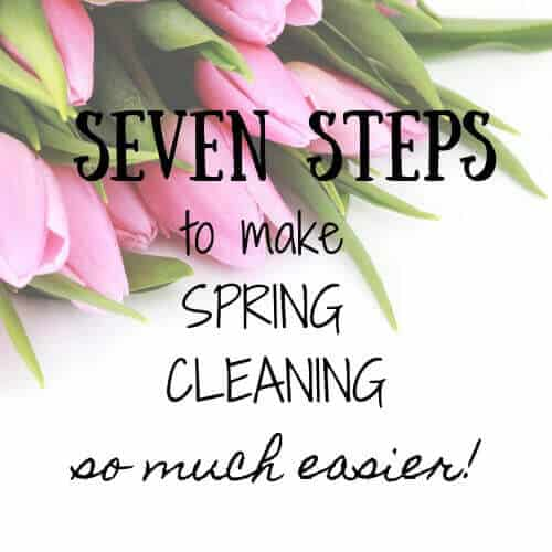 Seven steps to simplify Spring Cleaning