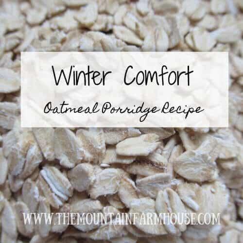 Oatmeal Porridge recipe