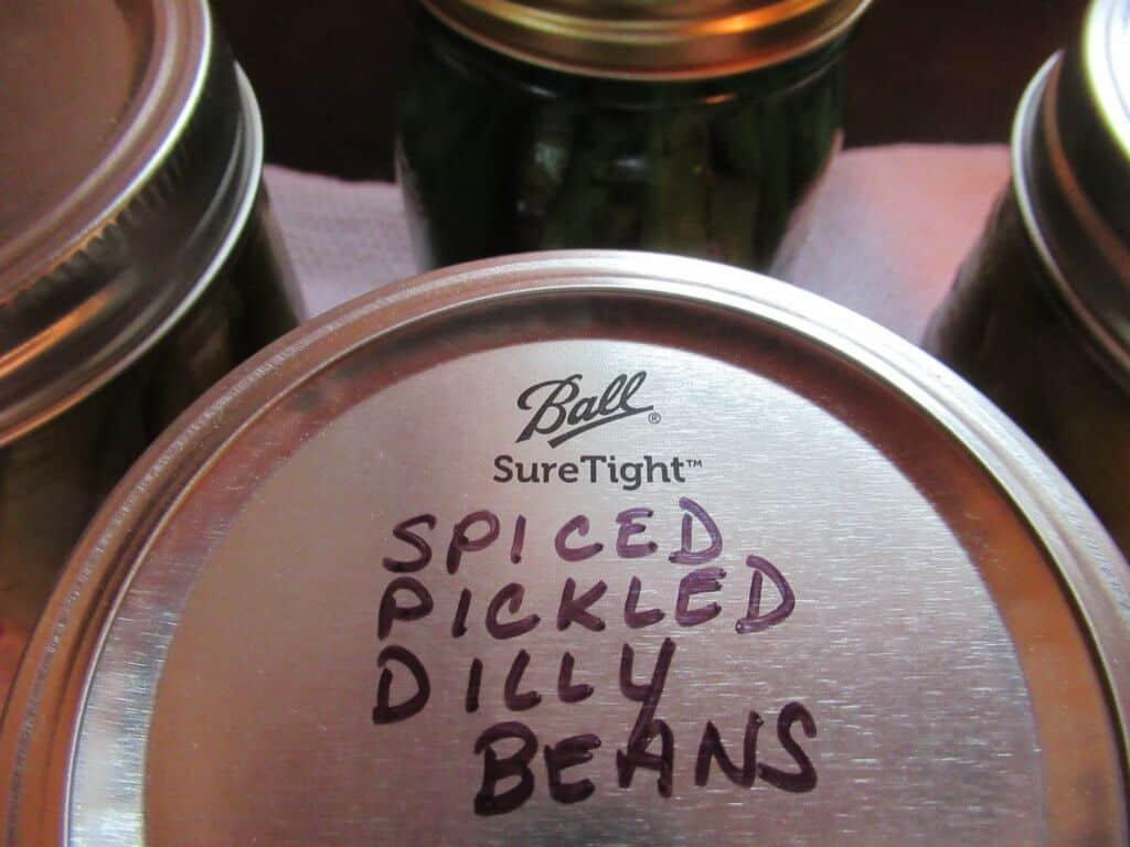 Labeled jar lid