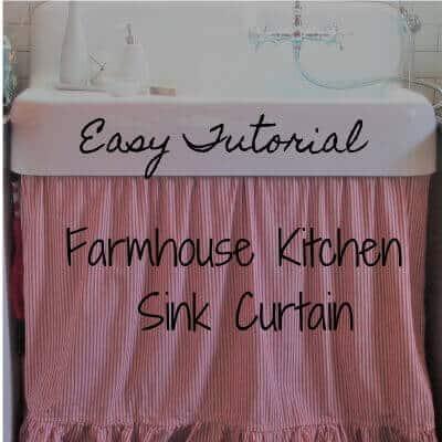 Farmhouse Kitchen Sink Curtain Tutorial