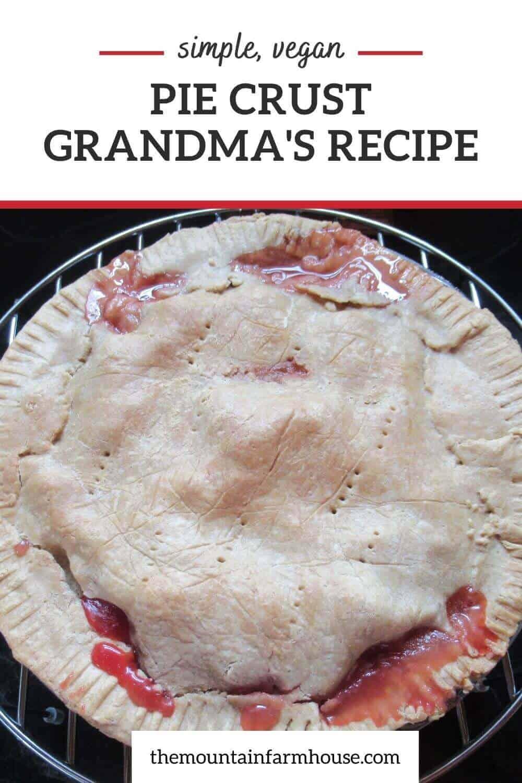 Pinterest pin pie crust for fruit pie