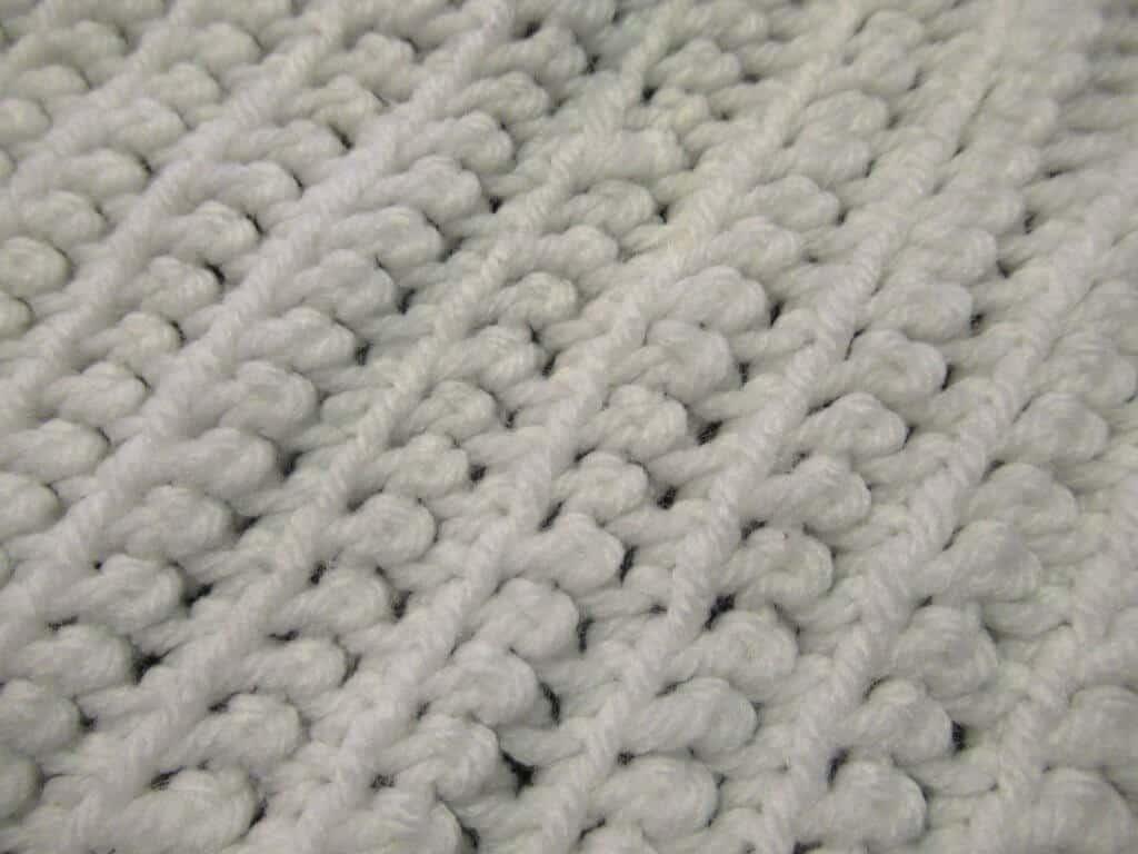 White Single crochet rows