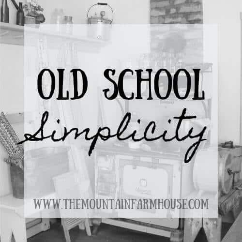 Old School Simplicity