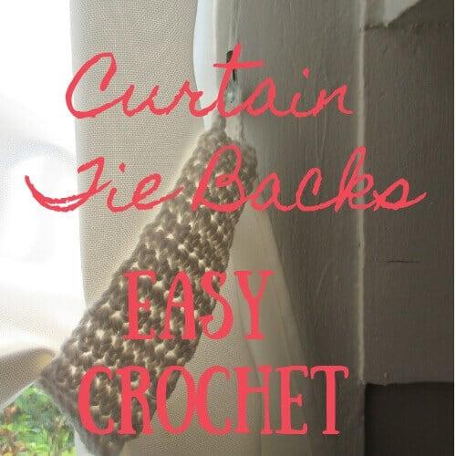Curtain Tie Backs Easy Crochet