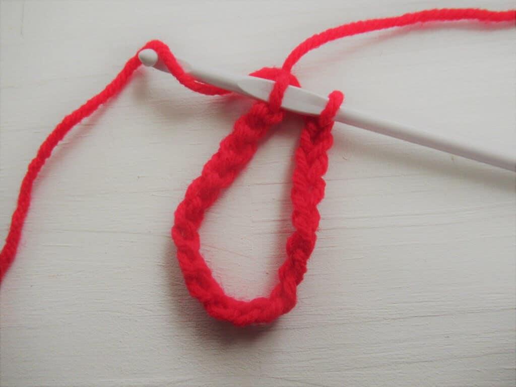 Slipstitch step one crochet
