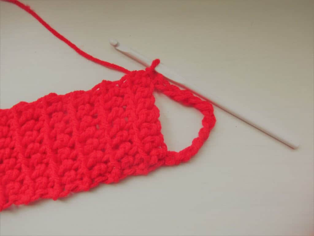 Slip stitch at the end
