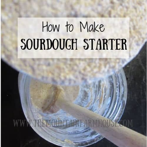 Flour, water, wooden spoon, mason jar