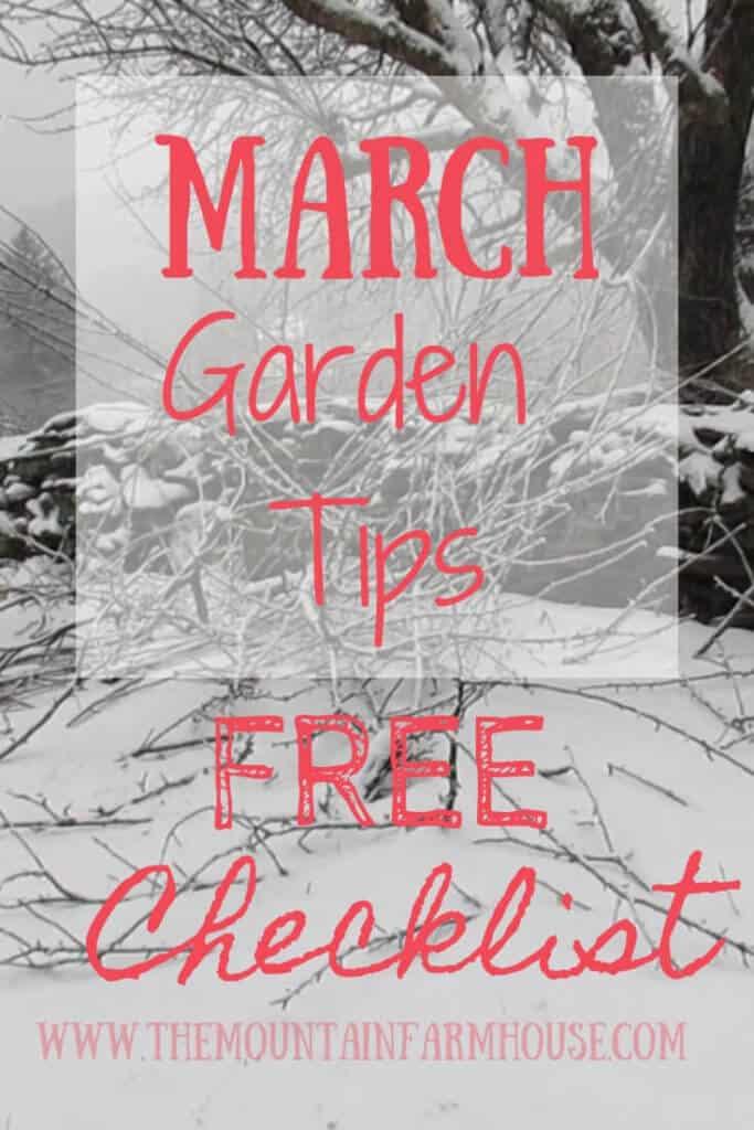 March Garden Tips Free Checklist Crabapple Branches