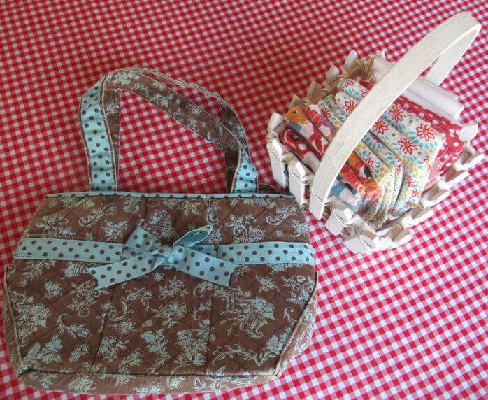 Sustainable cloth Lunch Bag, Napkins, and tablecloth