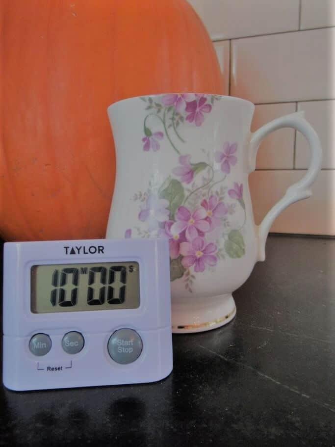 Pumpkin, Timer and Teacup