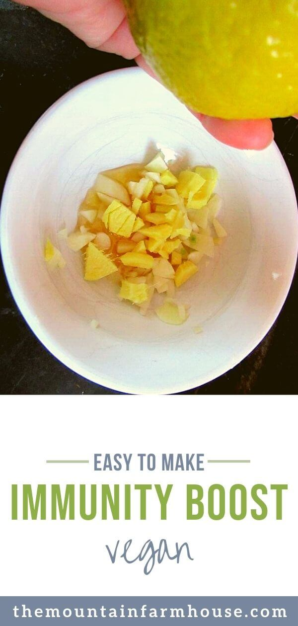 Lemon and chopped ginger and garlic