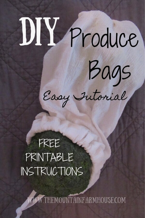 Pinterest DIY Produce Bags