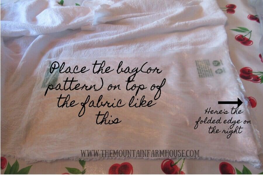DIY Produce Bag Tutorial Step One
