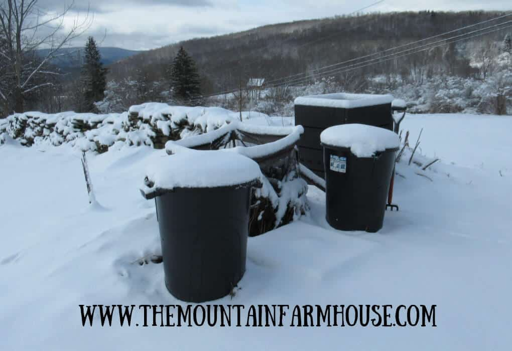Image compost in the snow