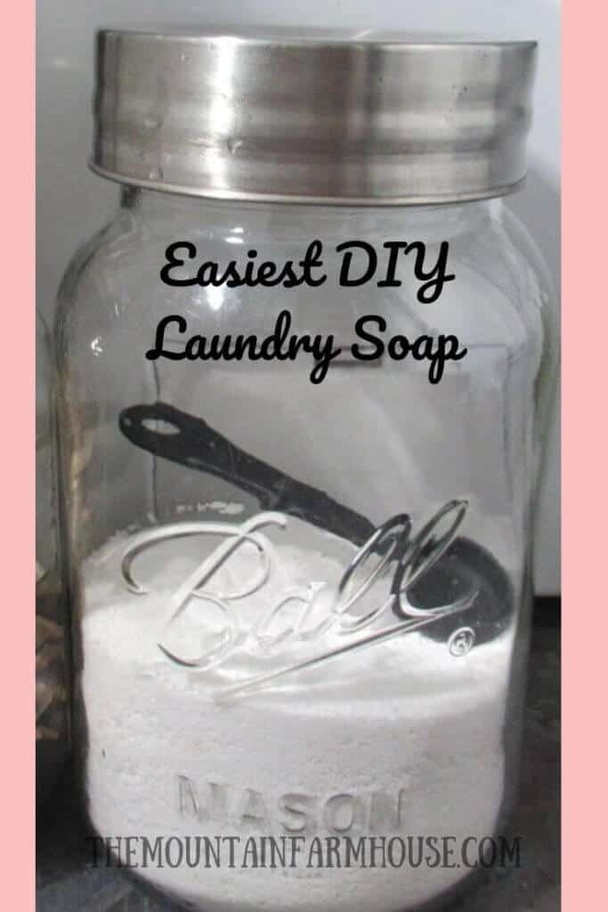 Laundry soap in Mason Jar DIY