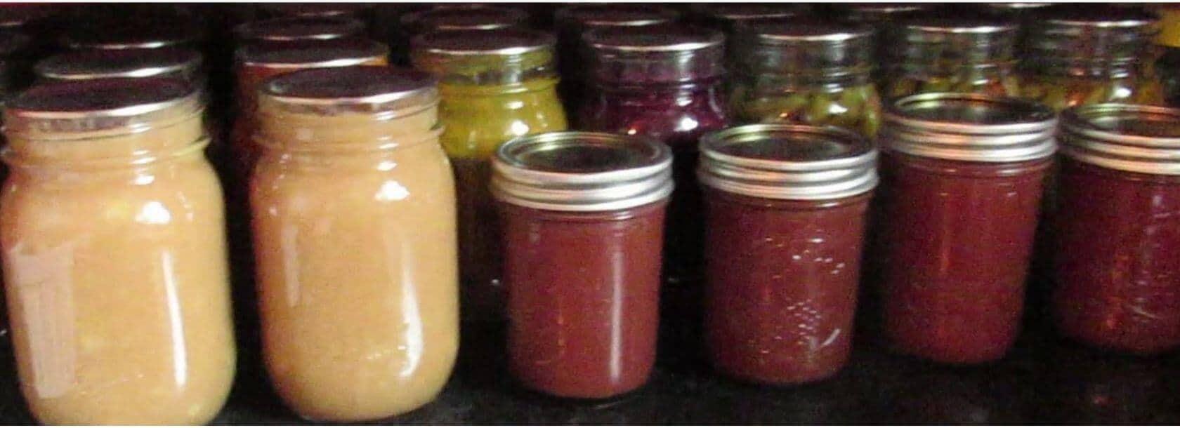 Canning jars full