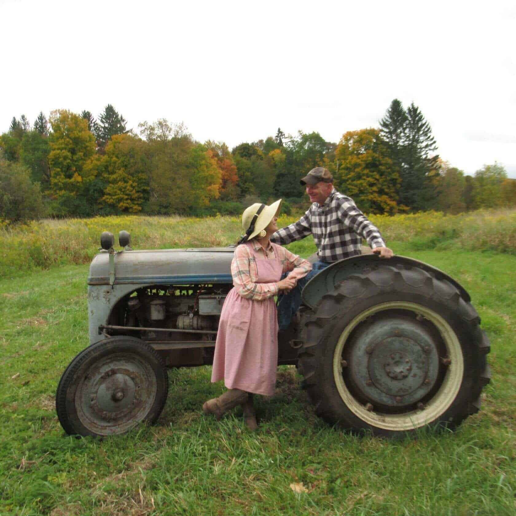 Wendy and Joel with tractor