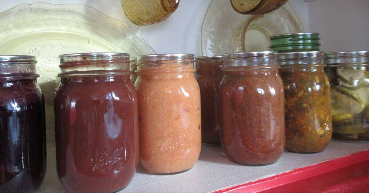 Home-canned pantry items