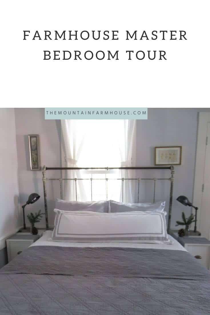 Farmhouse Master Bedroom Tour Pin