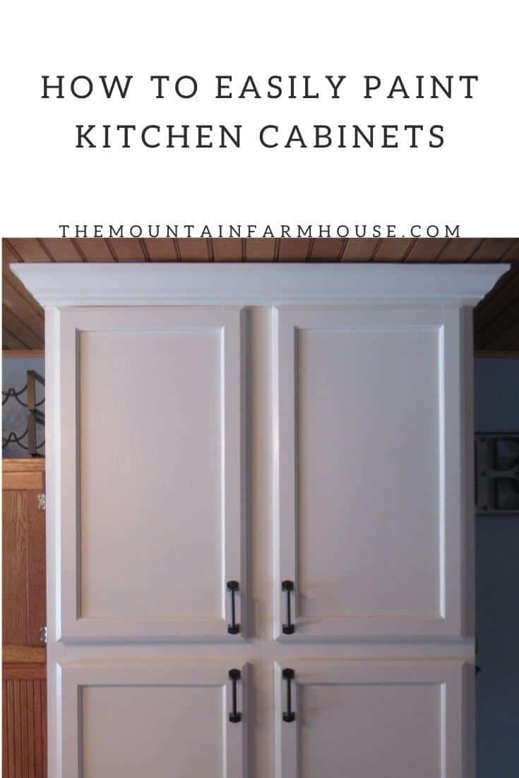Pinterest pin white painted kitchen cabinets with black handles