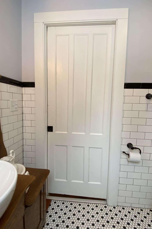 Bathroom pocket entry door