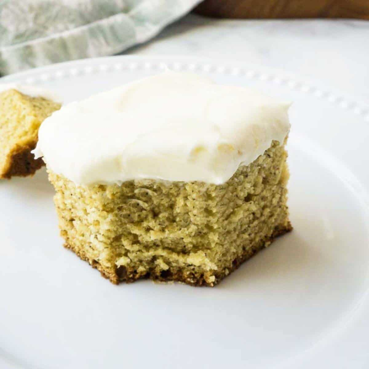 yellow cake with white icing