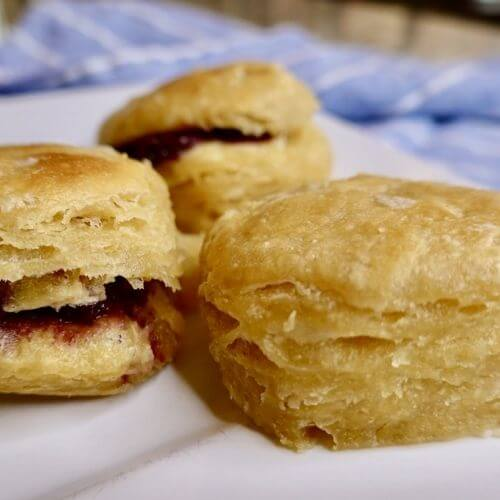Sourdough Biscuits With jam
