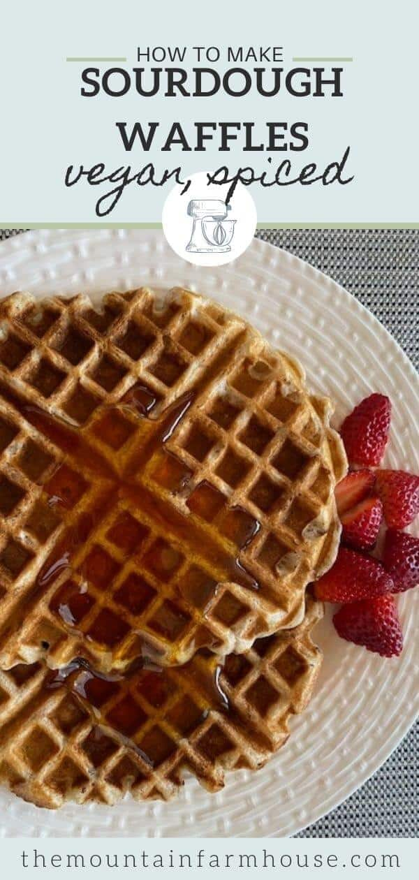 Pinterest pin waffles syrup strawberries white plate